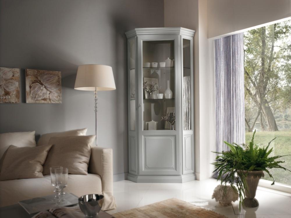 Arredamento zona giorno in stile classico dane mobili for Librerie angolari ikea