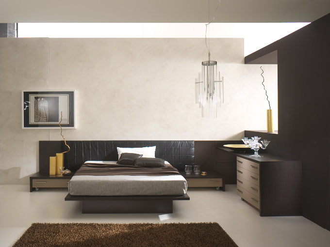 Pareti Camera Da Letto Wengè : Camera da letto moderna art black hawk ...