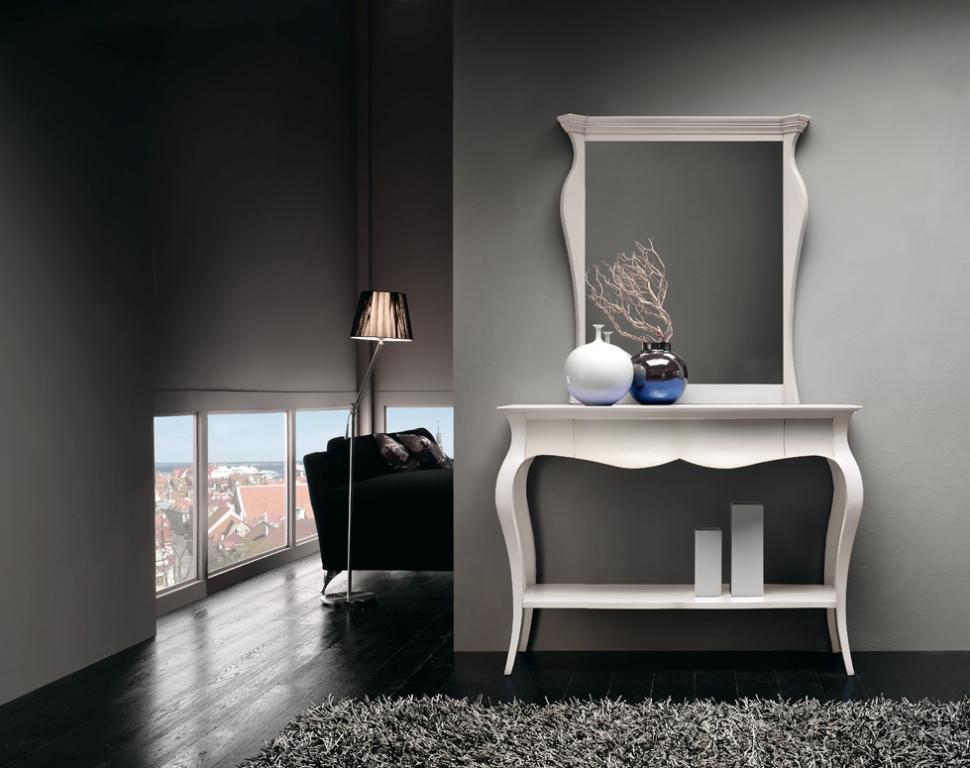Consolle stile classico in finitura laccato bianco cm for Consolle allungabile laccata bianca