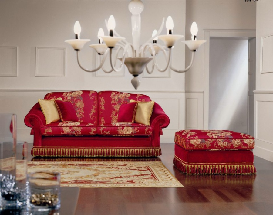 Salotti in stile classico dane mobili for Divano letto classico