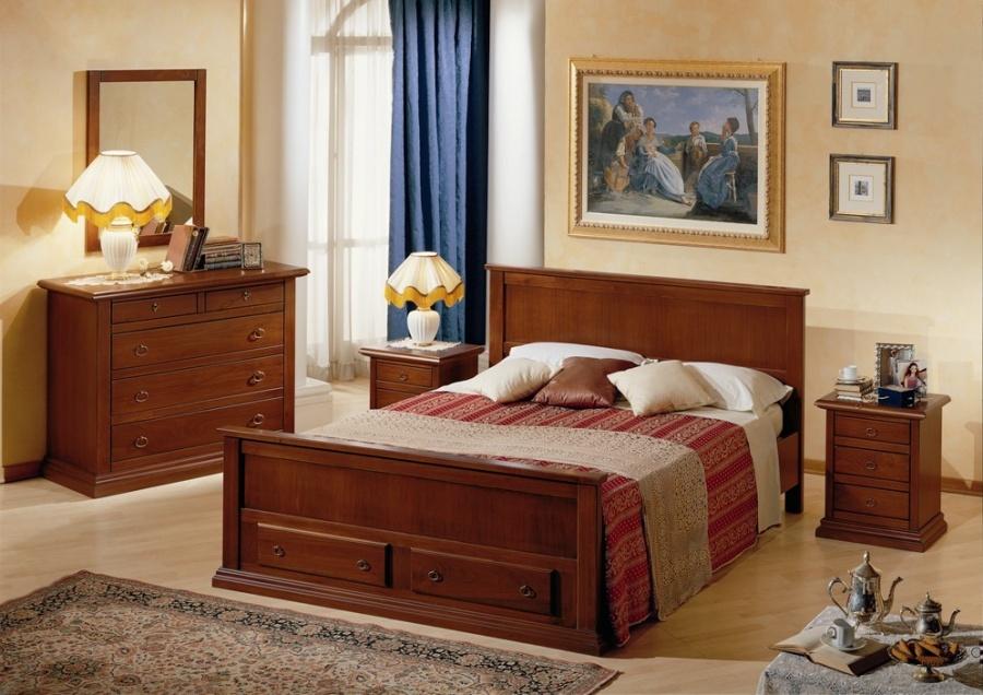 Arredamento zona notte in stile classico dane mobili - Camera da letto in ciliegio ...
