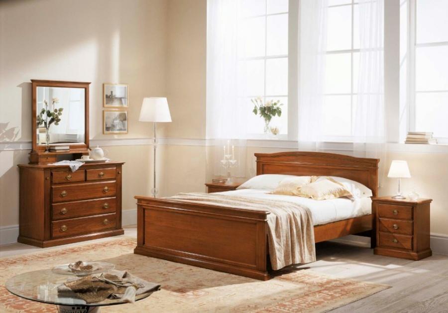 Specchiera Classica Noce Alba : Camera da letto classica in legno massello finitura noce