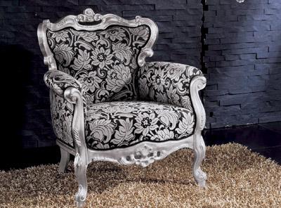 Salotti in stile classico dane mobili for Poltrone barocche