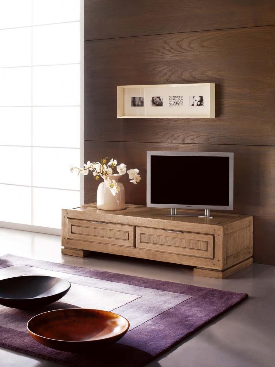 Porta tv classico in legno massello di frassino colore - Porta televisore classico ...