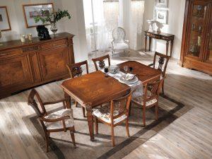 Tavolo Stile Classico Allungabile.Tavoli E Sedie In Stile Classico Dane Mobili