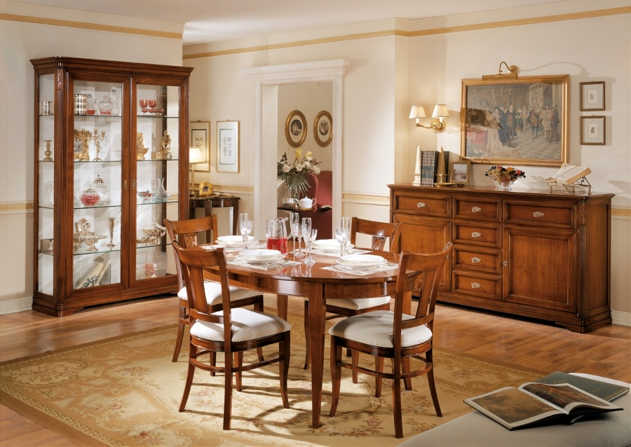 Arredamento zona giorno in stile classico dane mobili for Arredare sala da pranzo classica