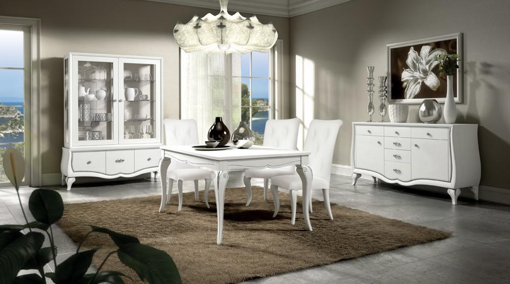 Arredamento zona giorno in stile classico dane mobili for Arredamento casa bianco