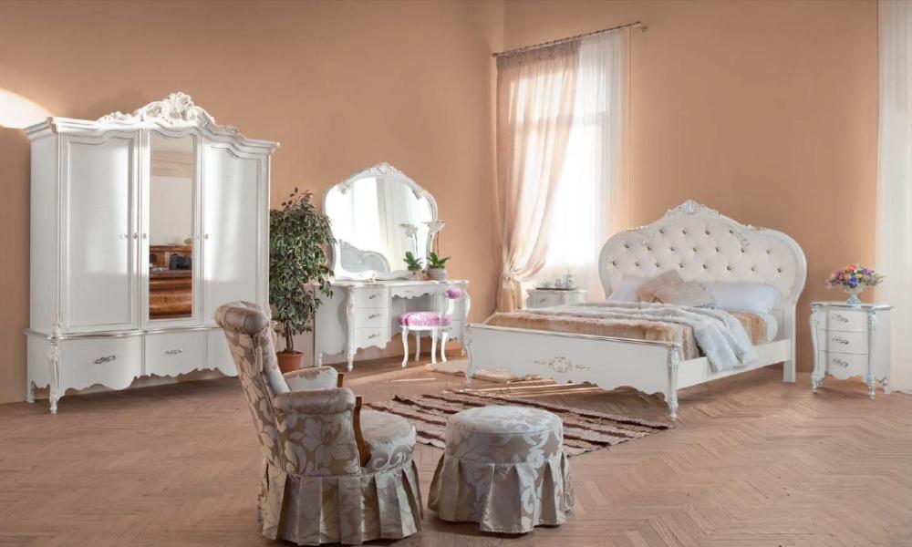 Arredamento zona notte in stile classico dane mobili - Pouf camera da letto ...