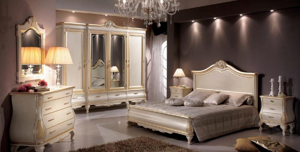 Arredamento zona notte in stile classico dane mobili for Zona notte arredamento