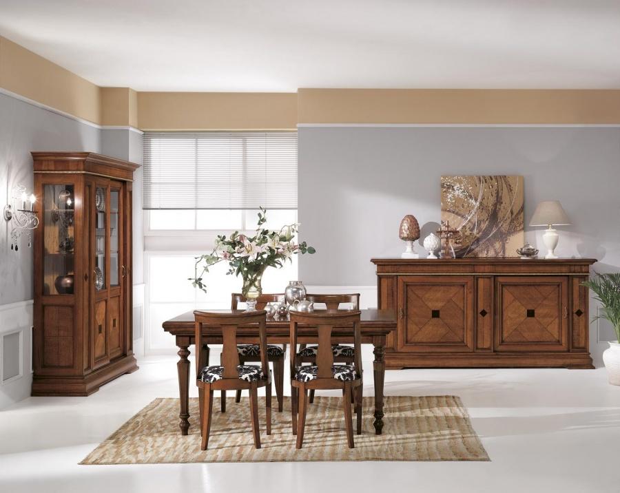 Arredamento zona giorno in stile classico dane mobili for Arredare casa in stile classico