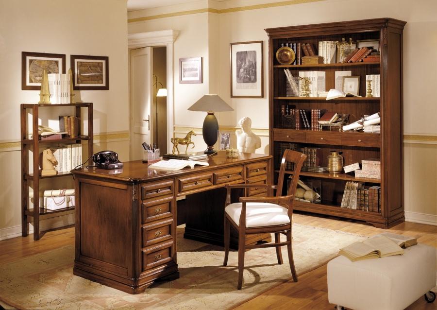Zona studio in stile classico dane mobili for Scrivanie da arredo