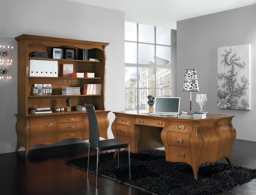 Zona studio in stile classico dane mobili for Progetta i tuoi mobili per ufficio