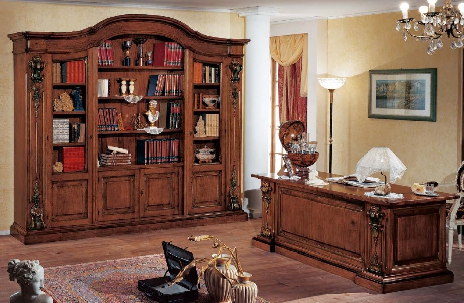 Mobili Ufficio Classico : Zona studio in stile classico dane mobili
