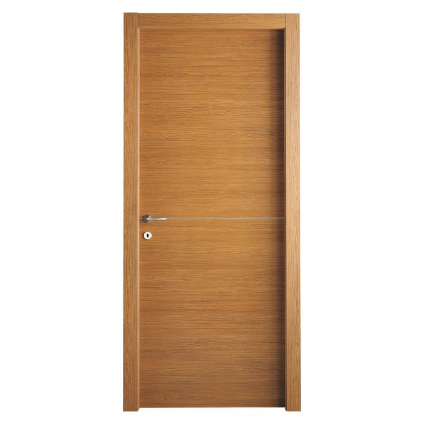 Trendy lnfol porta per interni in laminatino colore teak - Idee porte interne ...